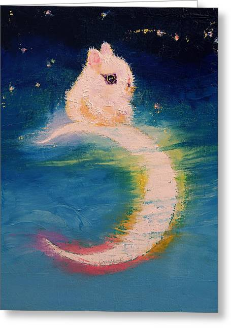 Moon Bunny Greeting Card