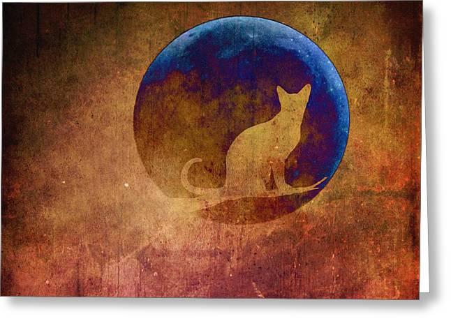 Moon Cat Greeting Card