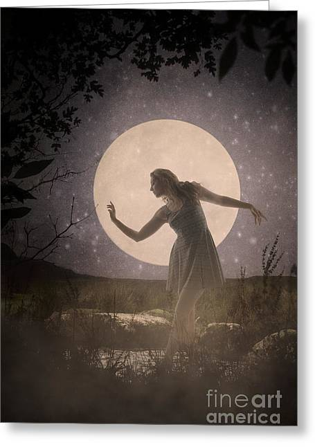 Moon Dance 001 Greeting Card