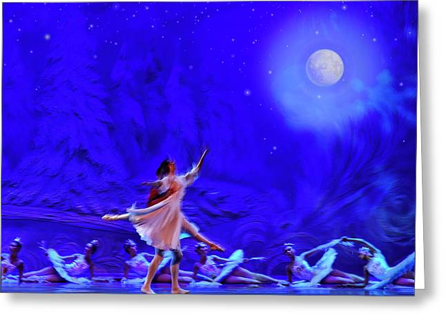Moon Dance Greeting Card