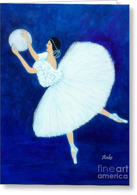 Moon Dancer Greeting Card by Anke Wheeler