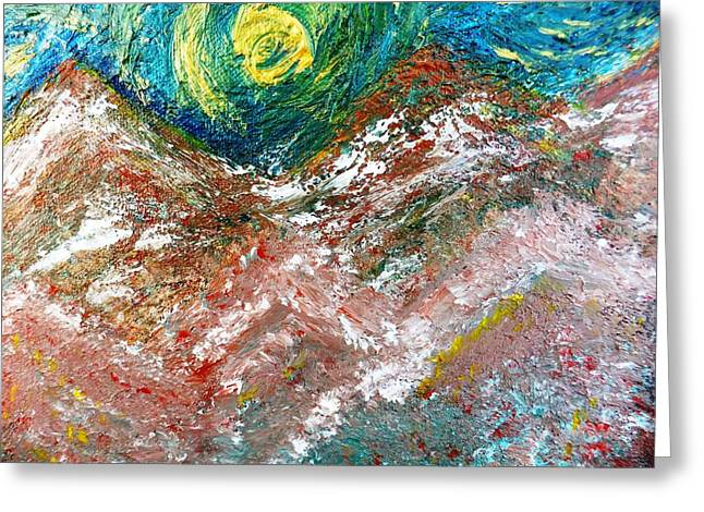 Moon Dream Greeting Card by Amy Drago