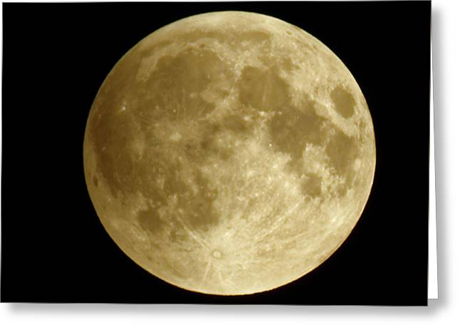 Moon During Eclipse Greeting Card