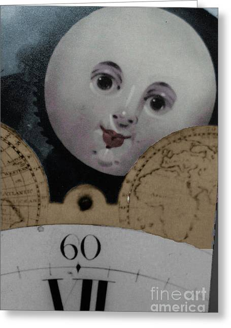 Moon Face Greeting Card