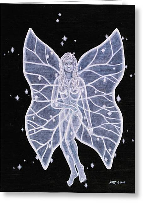 Moon Fairy Greeting Card by Roz Eve