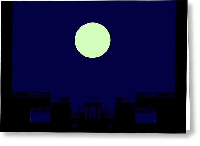 Moon Greeting Card by Geoff Simmonds