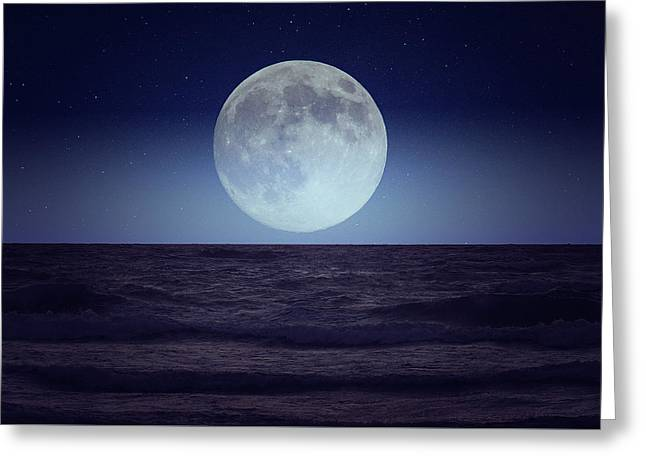 Moon Glow Greeting Card by Gary Nelson