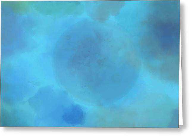 Moon In Clouds Greeting Card