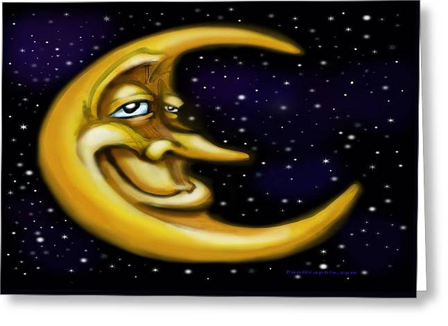 Moon Greeting Card by Kevin Middleton