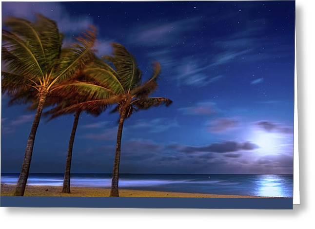 Moon Lagoon Greeting Card by Mark Andrew Thomas