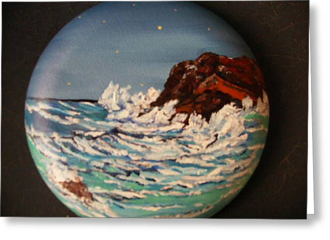 Moon Light In Monterey Greeting Card by Terry Lash