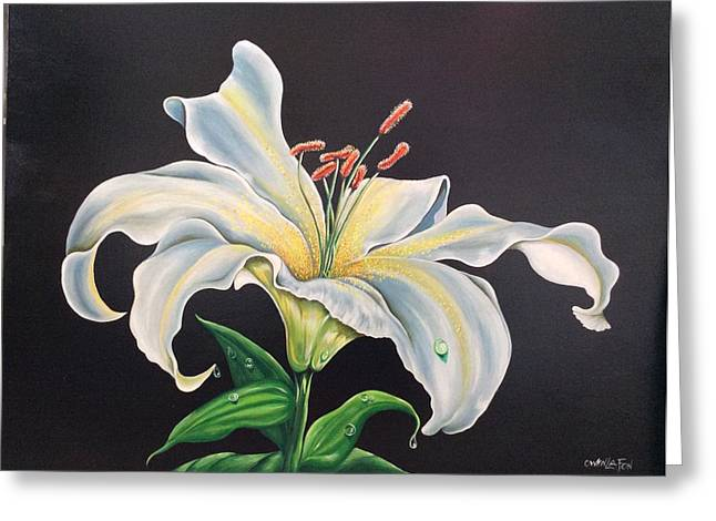 Moon Light Lilly Greeting Card