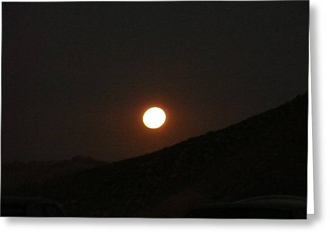moon light on Mitspe Ramon Greeting Card