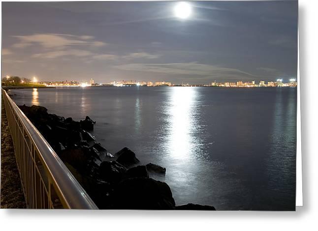 Moon Light Greeting Card by Svetlana Sewell