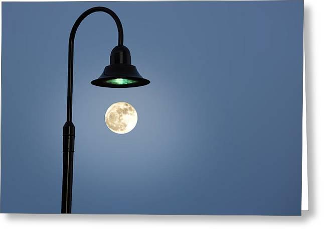 Moon Lighting Greeting Card by Tom McCarthy