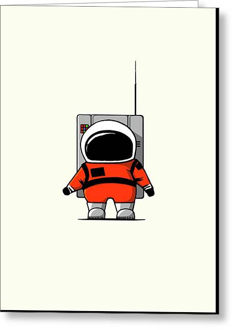 Moon Man Greeting Card by Nicholas Ely