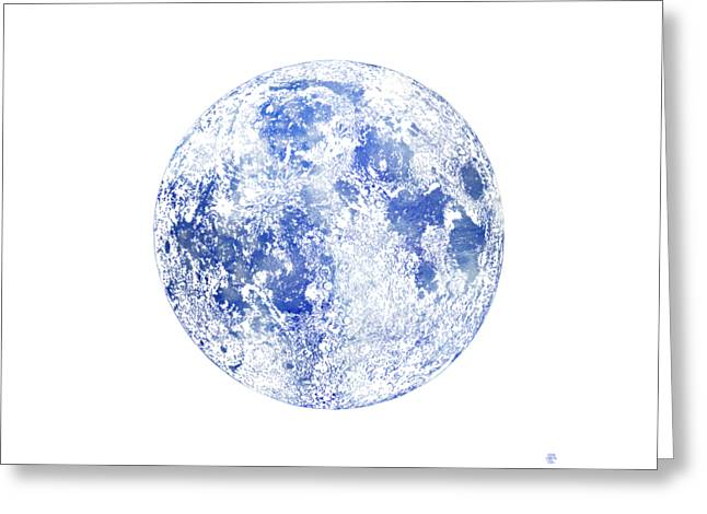 Moon Map Greeting Card