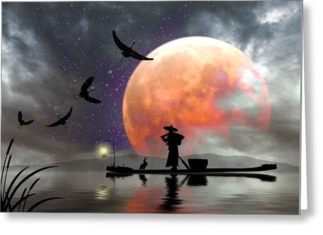 Moon Mist Greeting Card
