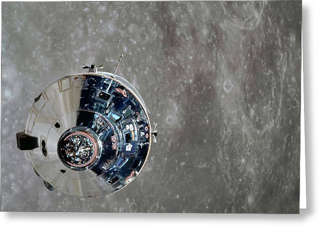 Moon Orbit Greeting Card