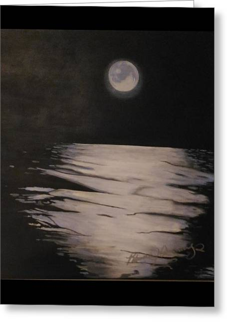 Moon Over The Wedge Greeting Card