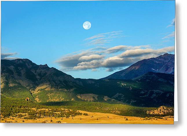 Moon Over Electric Mountain Greeting Card