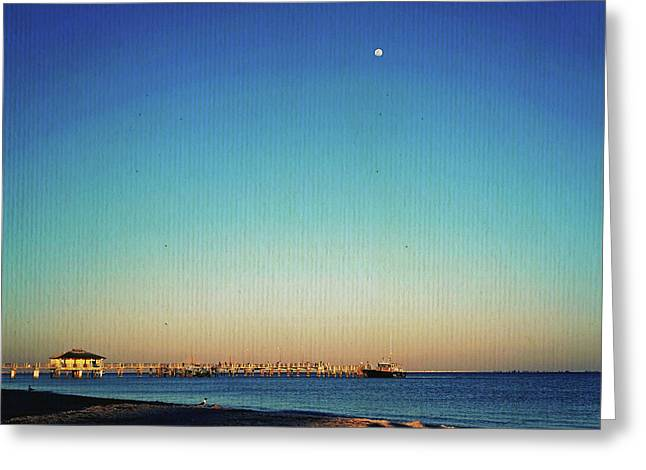 Moon Over Fort Desoto Greeting Card