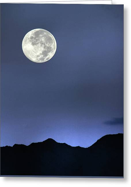 Moon Over Ko'olau Greeting Card