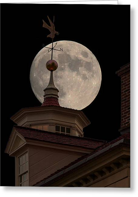 Moon Over Mount Vernon Greeting Card