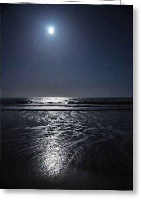 Moon Over Ocracoke Greeting Card by Jeff Moose
