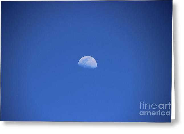 Moon Over Rio Frio Greeting Card by Al Bourassa