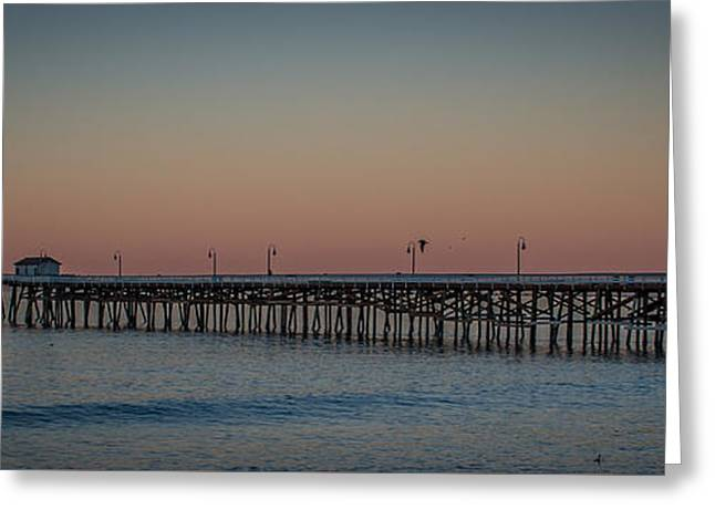 Moon Over The Pier Greeting Card by Richard Cheski