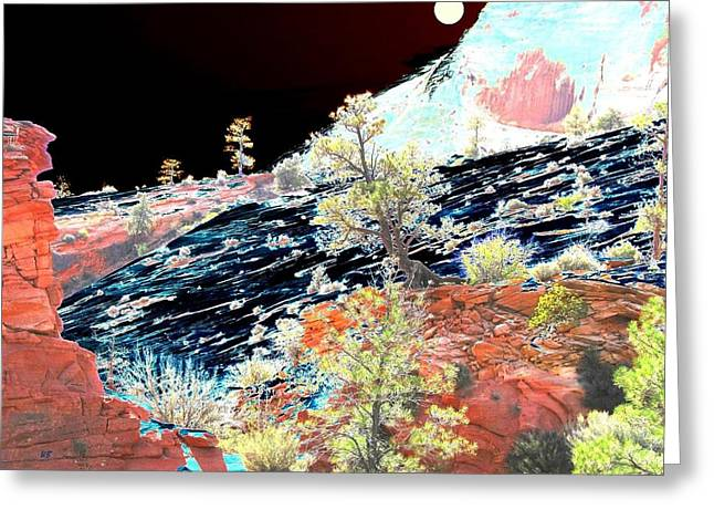 Moon Over Utah Greeting Card
