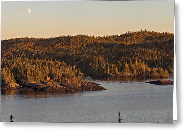 Moon Rise Over Pukaskwa Greeting Card