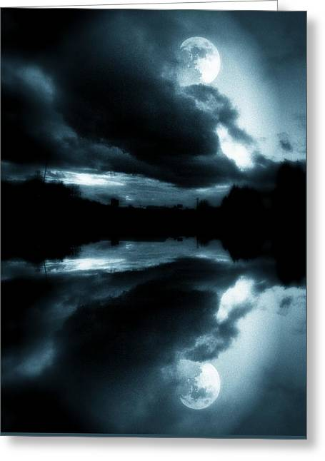 Greeting Card featuring the photograph Moon Rising by Aaron Berg