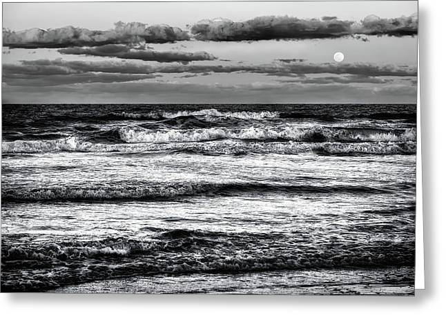 Greeting Card featuring the photograph Moon Rising  by Louis Ferreira