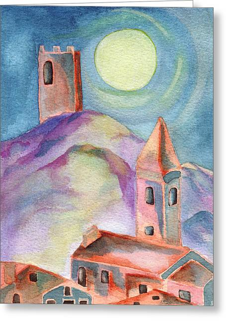 Moon Rising Greeting Card by Molly Williams