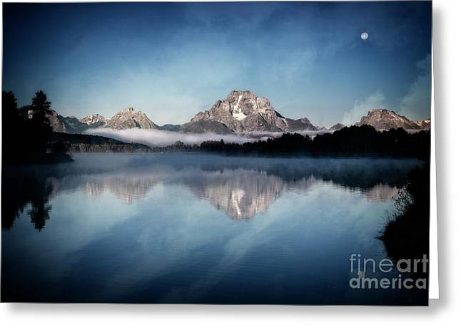 Greeting Card featuring the photograph Moonset by Scott Kemper