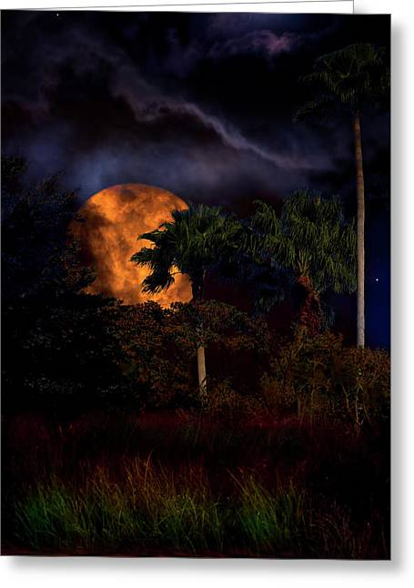 Moon River Greeting Card by Mark Andrew Thomas