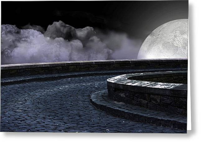 Moon Road 2 Greeting Card by Evelyn Patrick