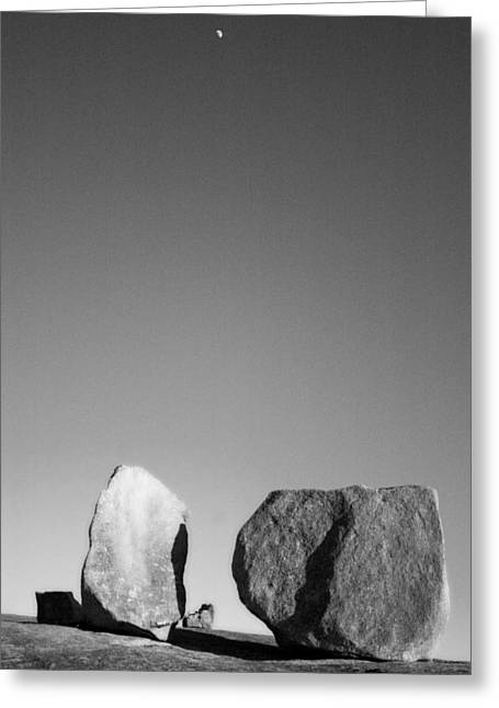Moon Rocks Greeting Card by John Gusky