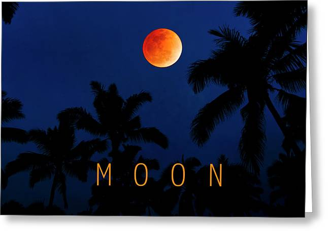 Moon. Greeting Card