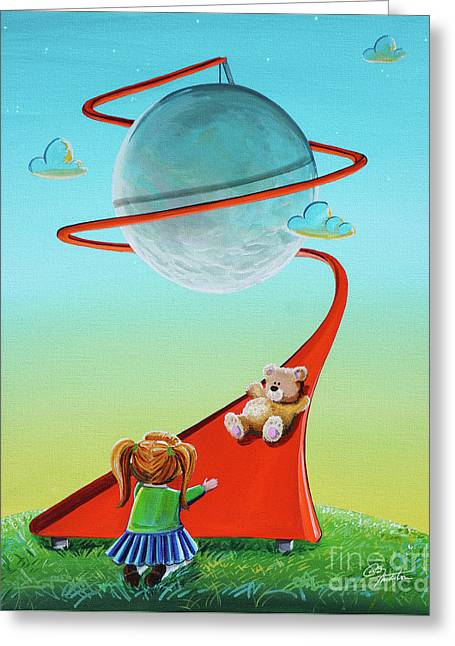 Moon Slide Greeting Card