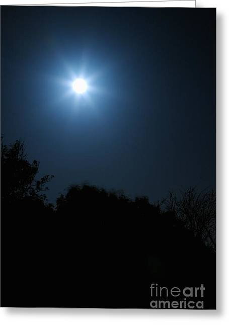 Moon Star Greeting Card by Hideaki Sakurai