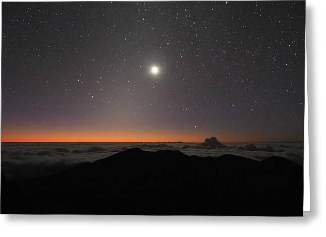 Moon, Stars And Sun Greeting Card