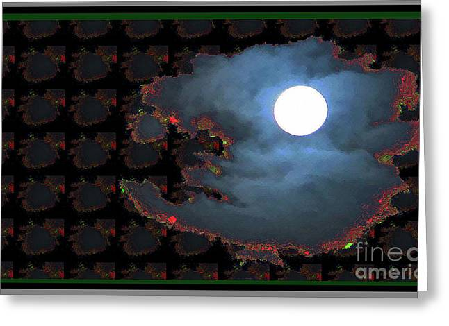 Moon Through Clouds  Photography With Graphic Flavour Created By Navinjoshi At Fineartamerica.co Greeting Card by Navin Joshi