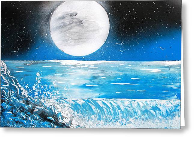 Moon Wave Greeting Card