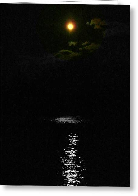 Moon Way Greeting Card by Aron Chervin