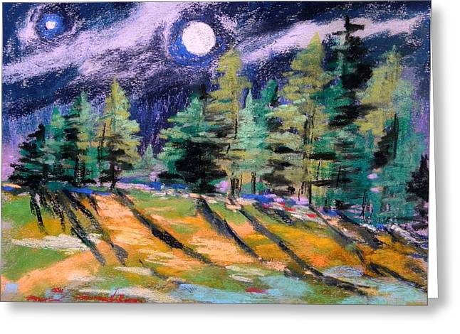 Moon With Venus Greeting Card by John Williams