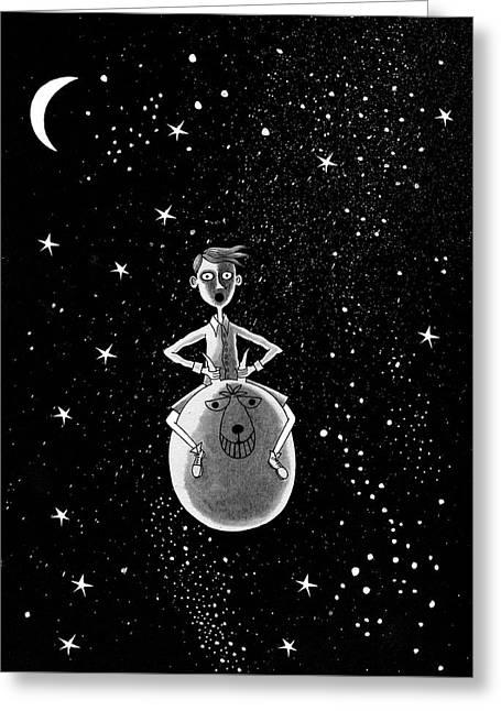Moonage Daydream  Greeting Card