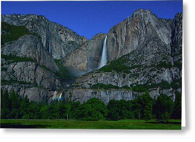 Moonbow Yosemite Falls Greeting Card